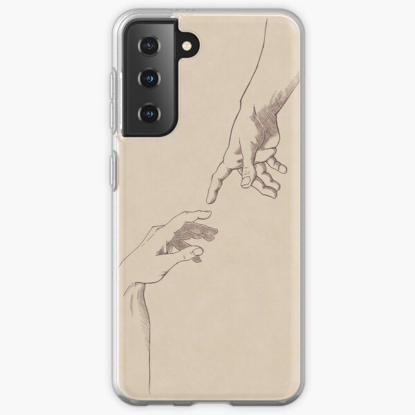 Dark Academia: Creation of Adam Sketch Samsung Galaxy Soft Case