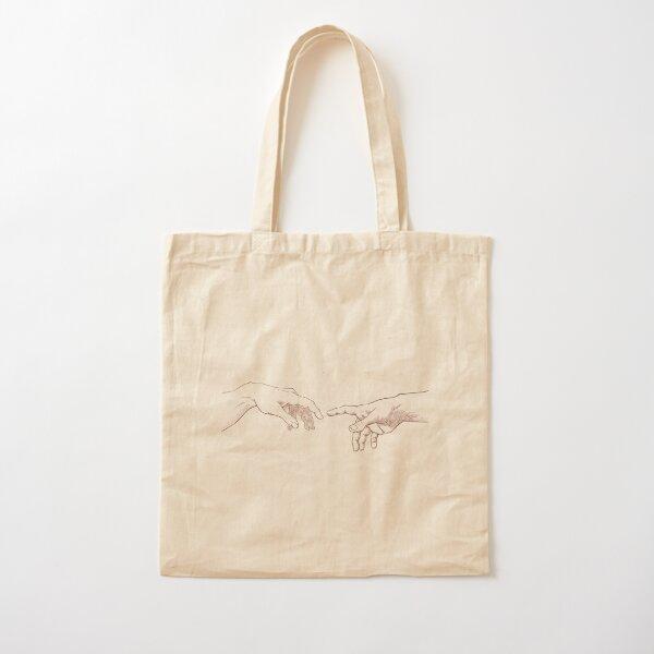 Dark Academia: Creation of Adam Sketch Cotton Tote Bag