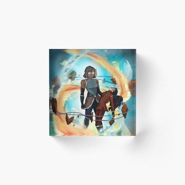 Avatar State Korra and Asami  Acrylic Block