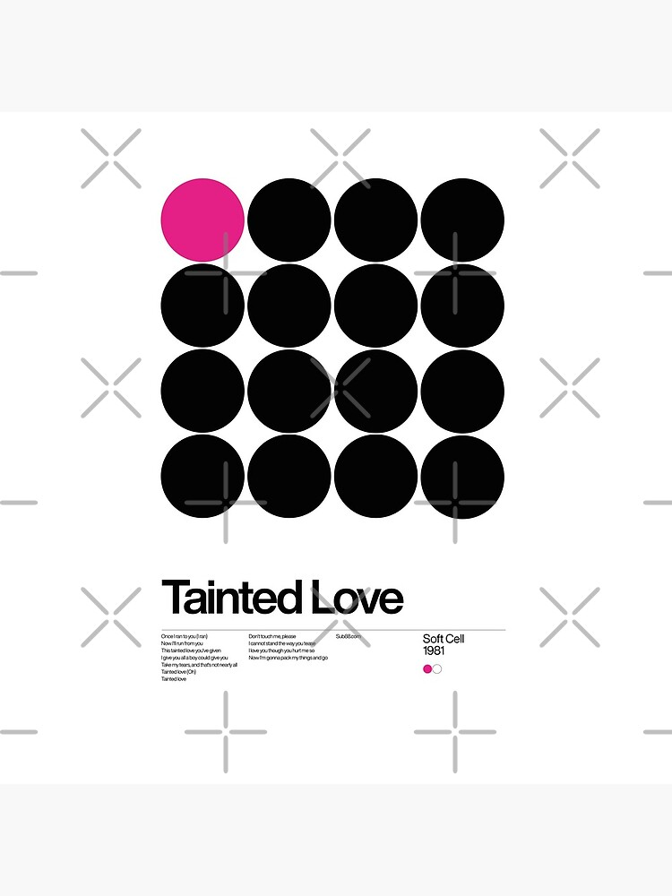 Tainted Love - Soft cell 1981, New Wave song Minimalistic Swiss Graphic Design by sub88