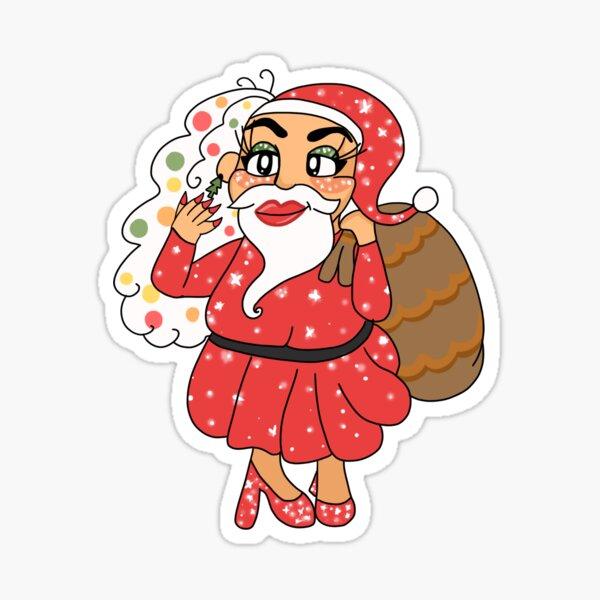 Miss Elle Toe - Santa Claus in drag  Sticker