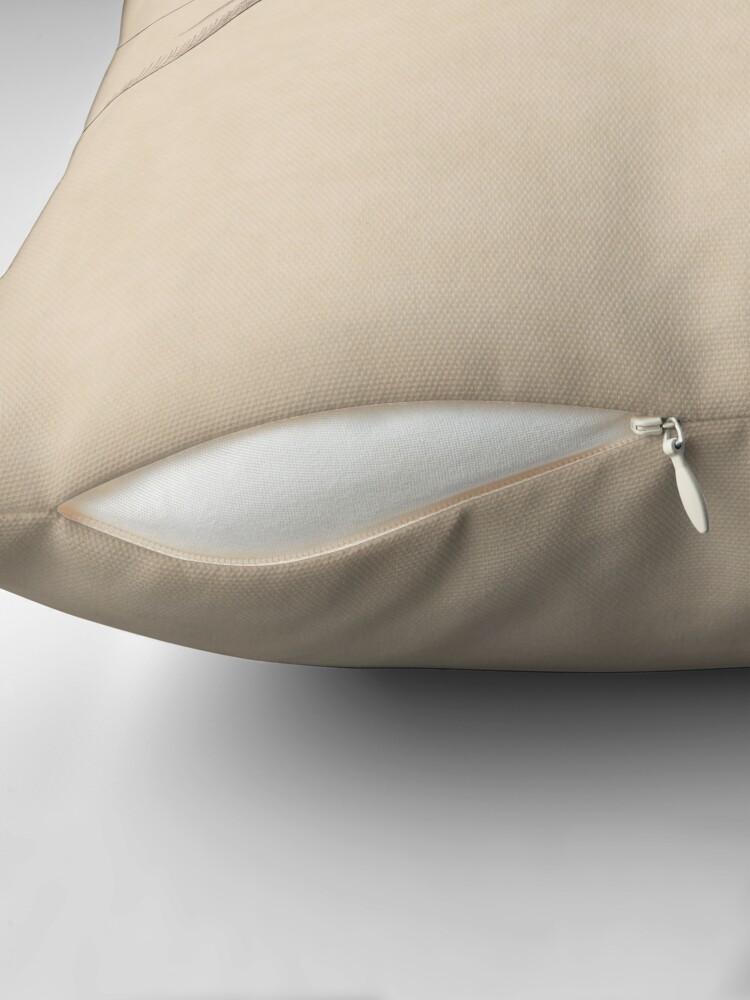 Alternate view of Dark Academia: Creation of Adam Sketch Throw Pillow