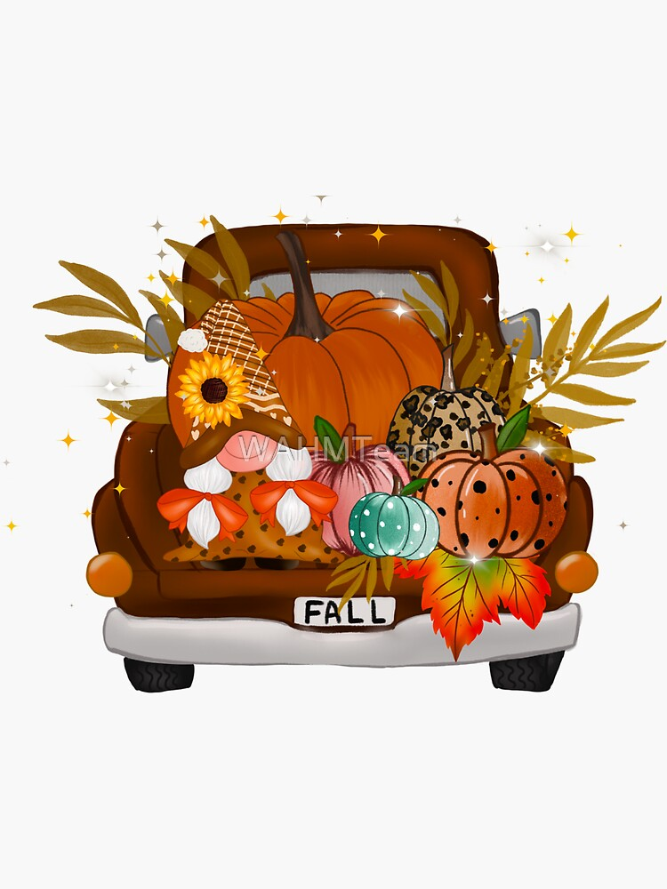Fall Thanksgiving Gnomes Pumpkins Truck by WAHMTeam