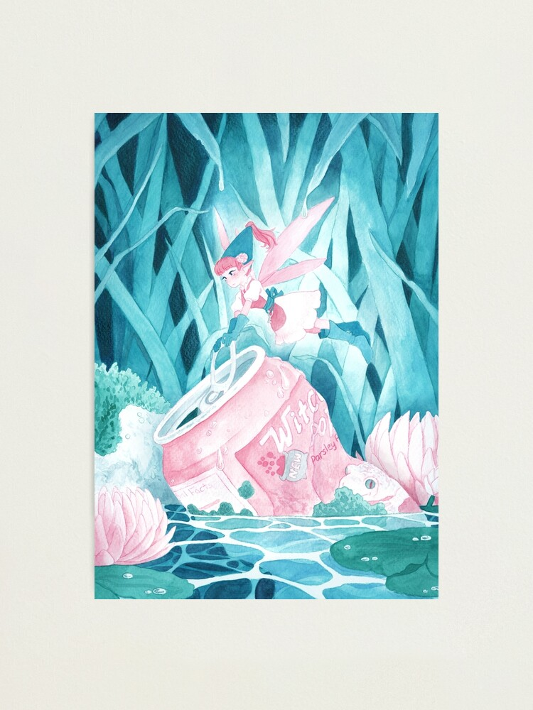 Alternate view of Cleaning Lady (Watercolor) Photographic Print