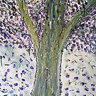 Large Jacaranda Tree by Julie  Sutherland