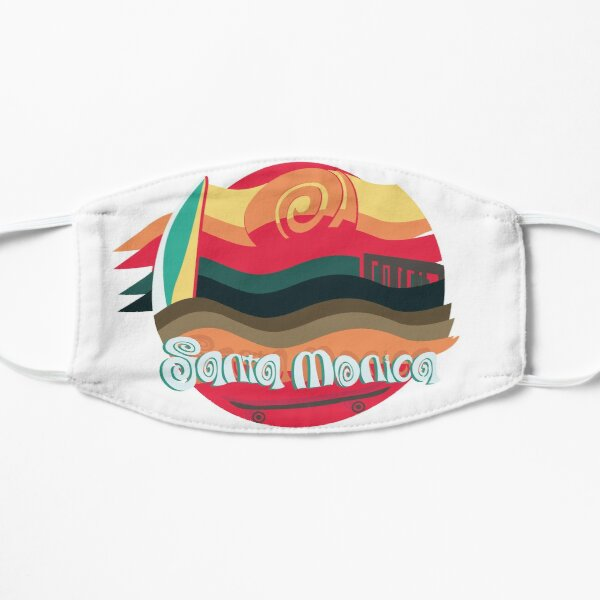 Santa Monica surf and skate paradise Mask