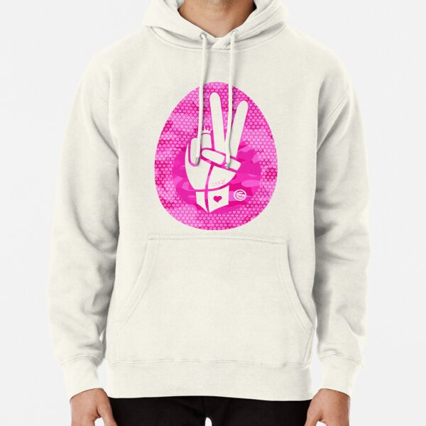 Peace First | Pink Camouflage Pullover Hoodie