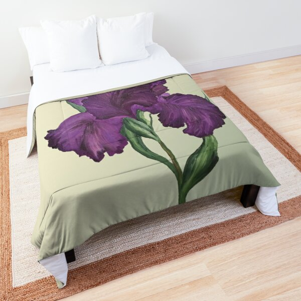 Purple Iris 1 Comforter