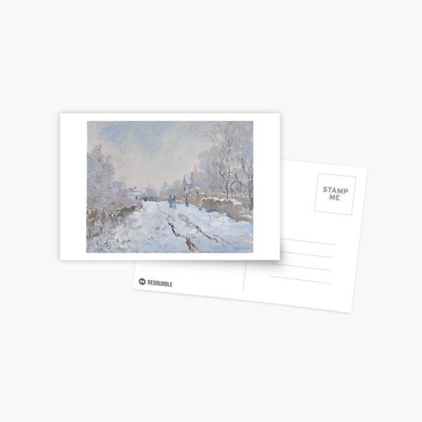 Claude Monet Snow at Argenteuil 1874 Postcard