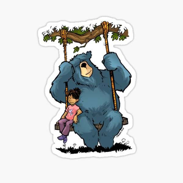 Hangin with papa bear Sticker