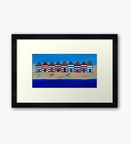 Beach Shacks Framed Print