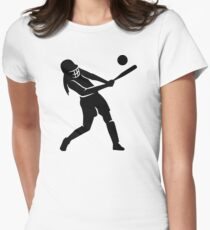 Softball player Womens Fitted T-Shirt