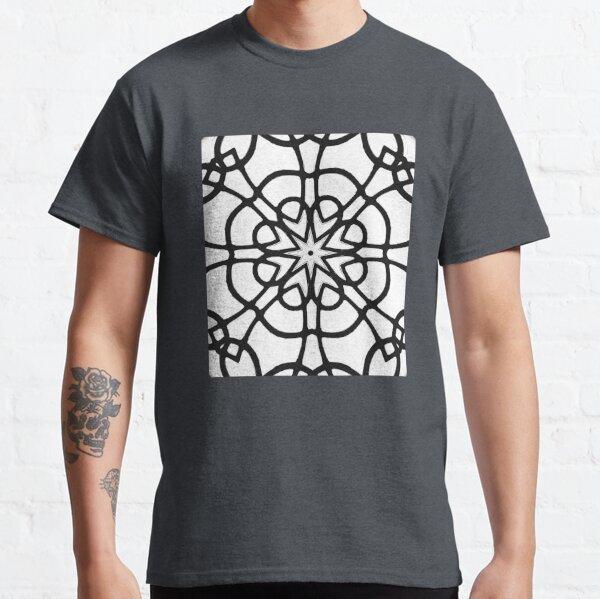 Monochrome One - Black and White Mandala Art Classic T-Shirt