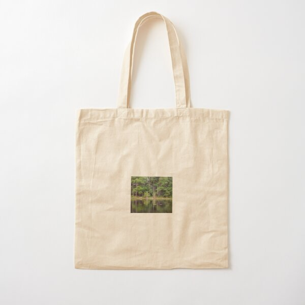 Pines and Tulips Cotton Tote Bag