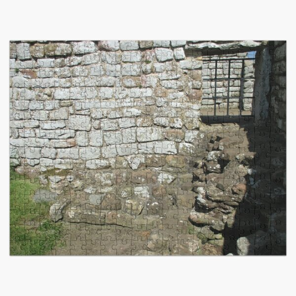 Merch #103 -- Rocks And Bricks - Shot 10 (Hadrian's Wall) Jigsaw Puzzle