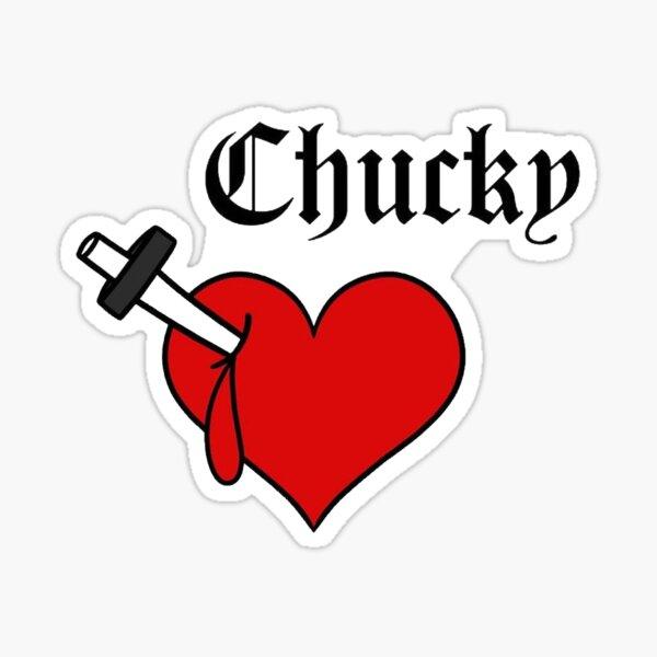 Tatuaje de Chucky de Tiffany Pegatina