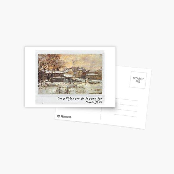 Claude Monet polaroid of Snow Effect with Setting Sun1875 Postcard