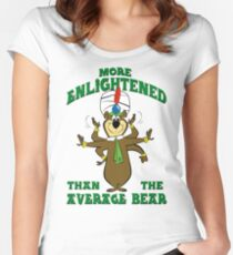 Yogi Bear - More Enlightened Than The Average Bear Women's Fitted Scoop T-Shirt