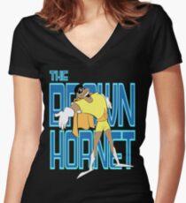 The Brown Hornet Women's Fitted V-Neck T-Shirt
