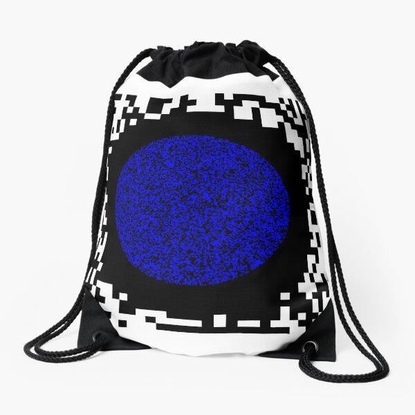Optical illusion abstract art Drawstring Bag