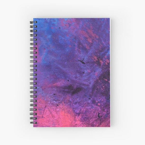 Textured Blended Pink, Purple Blue Abstract Art Background Spiral Notebook