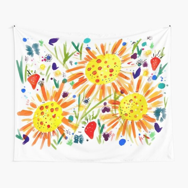 Bright and cheerful summer garden Tapestry