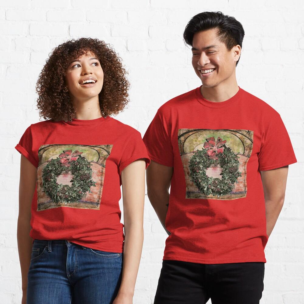 Joyful Wreath - Christmas in July  Classic T-Shirt