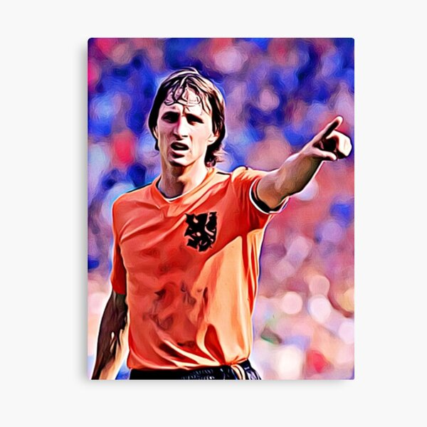 "Johan Cruyff ""Artwork"" Canvas Print"