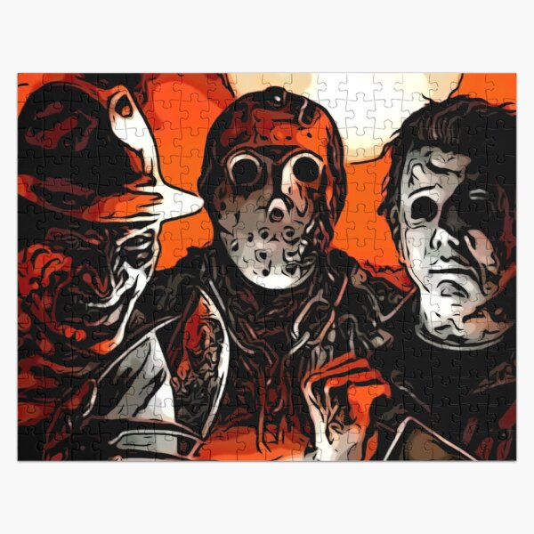 Horror Slashers Freddy Jason Jigsaw Puzzle