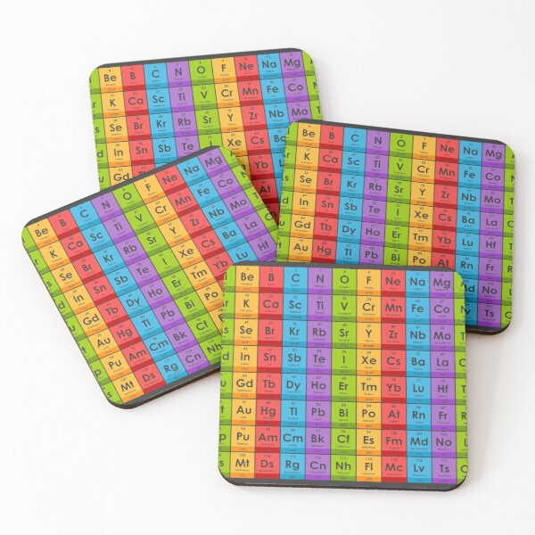 Elements of the Periodic Table Coasters (Set of 4)