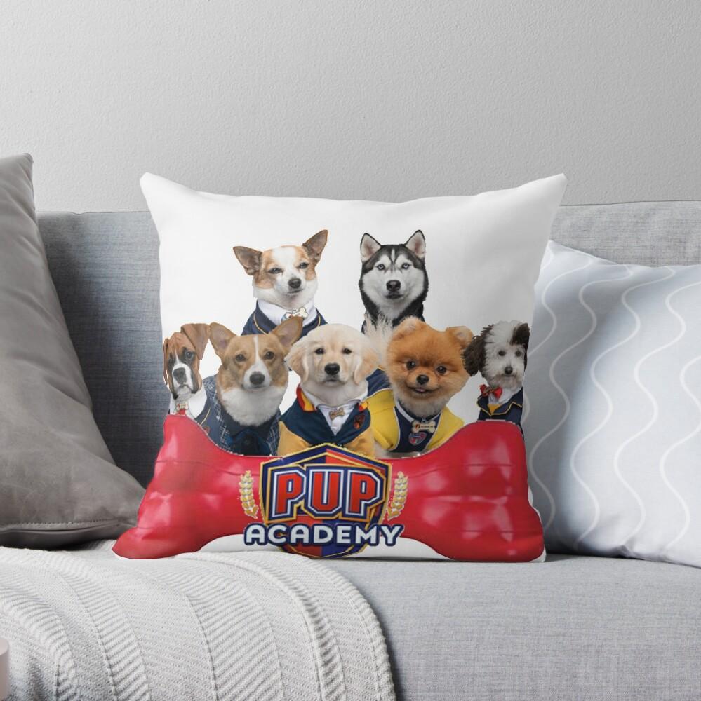 Pup Academy Show Throw Pillow
