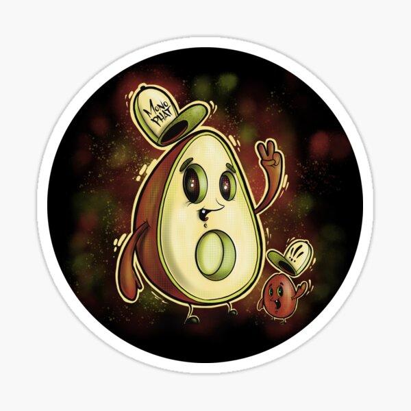 Mono Phats the Avocado Sticker