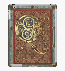Decorated Incipit Page - Opening of Luke's Gospel (1120 - 1140 AD) iPad Case/Skin