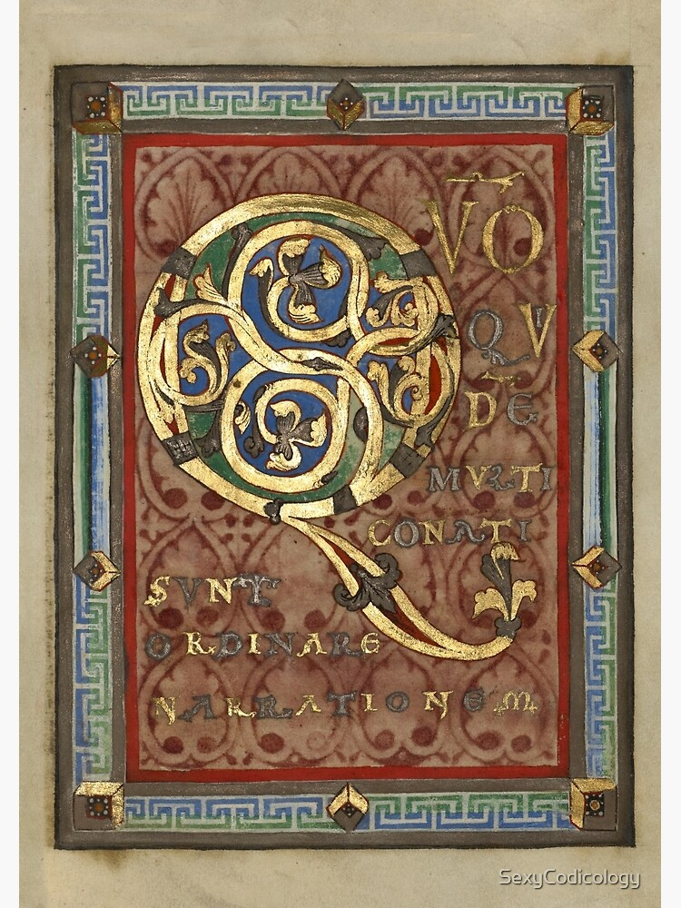 Decorated Incipit Page - Opening of Luke's Gospel (1120 - 1140 AD) by SexyCodicology