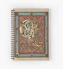 Decorated Incipit Page - Opening of Luke's Gospel (1120 - 1140 AD) Spiral Notebook
