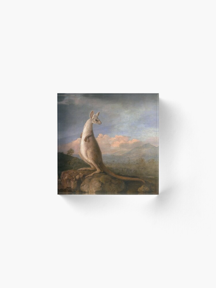 Alternate view of The Kongouro Oil Painting by Australian Artist George Stubbs Acrylic Block