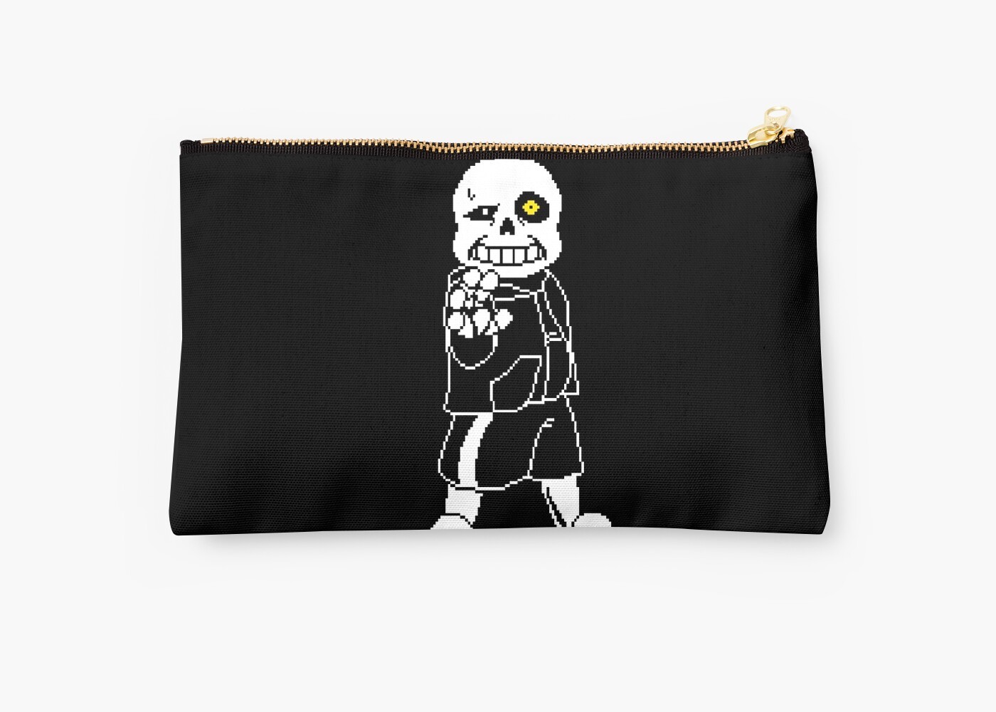 undertale sans after battle fan art studio pouches by tim schnapperelle redbubble. Black Bedroom Furniture Sets. Home Design Ideas