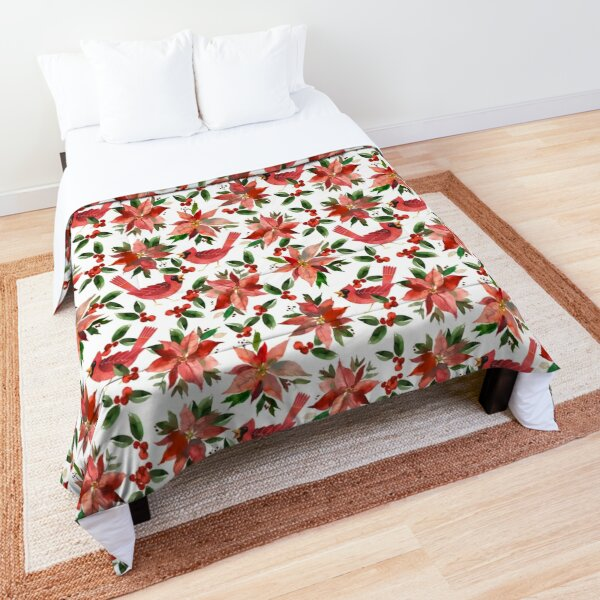 Cardinal Poinsettia Comforter