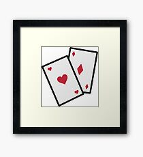 Gambling poker cards Framed Print