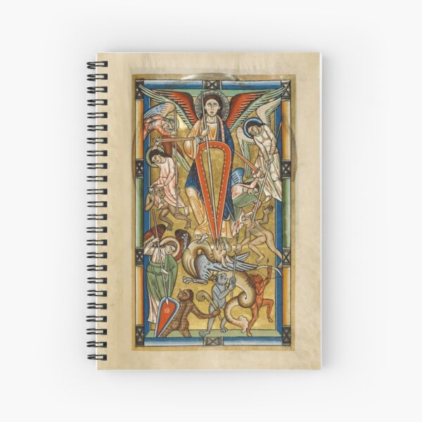 Saint Michael Battling the Dragon (1170 AD) Spiral Notebook