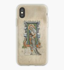 Medieval Miniature - Saint Hedwig of Silesia with Duke Ludwig of Legnica and Brieg and Duchess Agnés (1353 AD) iPhone Case