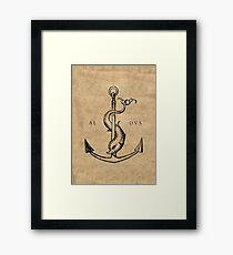 Festina Lente - Aldus Manutius Printer's Mark Framed Print