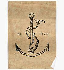 Festina Lente - Aldus Manutius Printer's Mark Poster