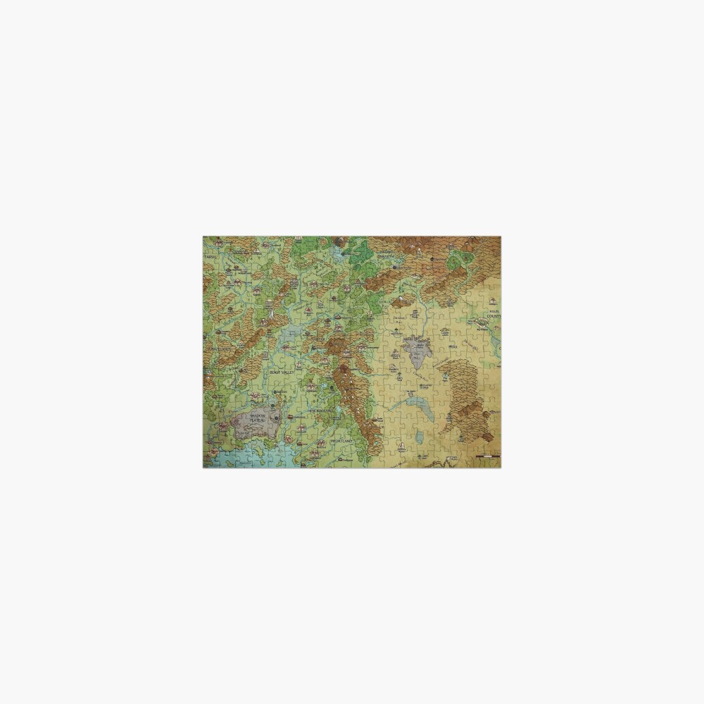 Dragon Pass and Prax Map by Darya Makarava Jigsaw Puzzle