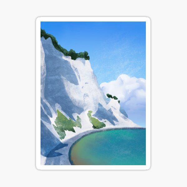 Chalk Cliffs in Denmark Sticker