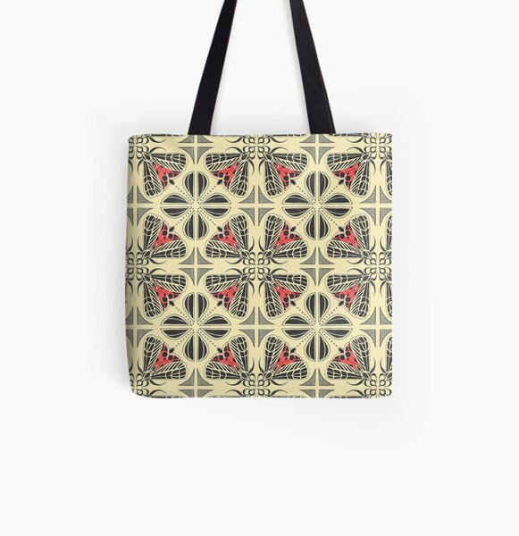 Harnessed Tiger Moth Tile  All Over Print Tote Bag