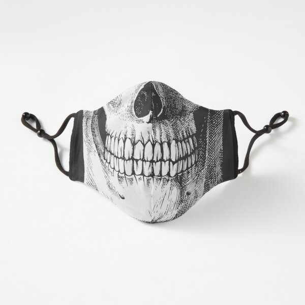Black ink skull Fitted 3-Layer