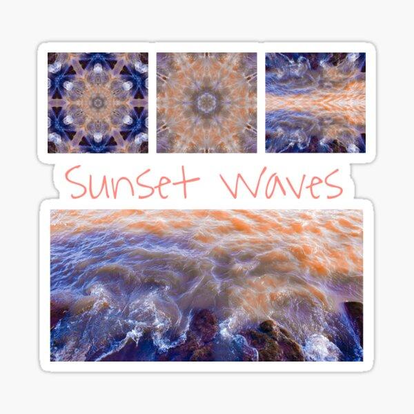 Sunset Crashing Waves  Sticker
