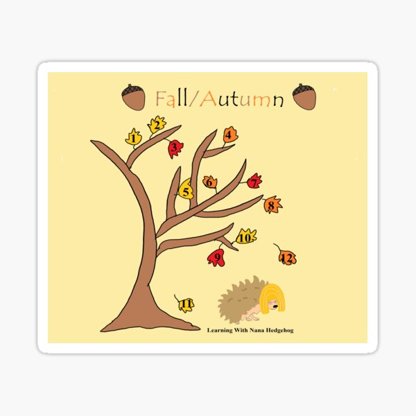 Counting to 12 Fall Tree Sticker