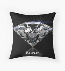 Diamond Shine Respect Throw Pillow